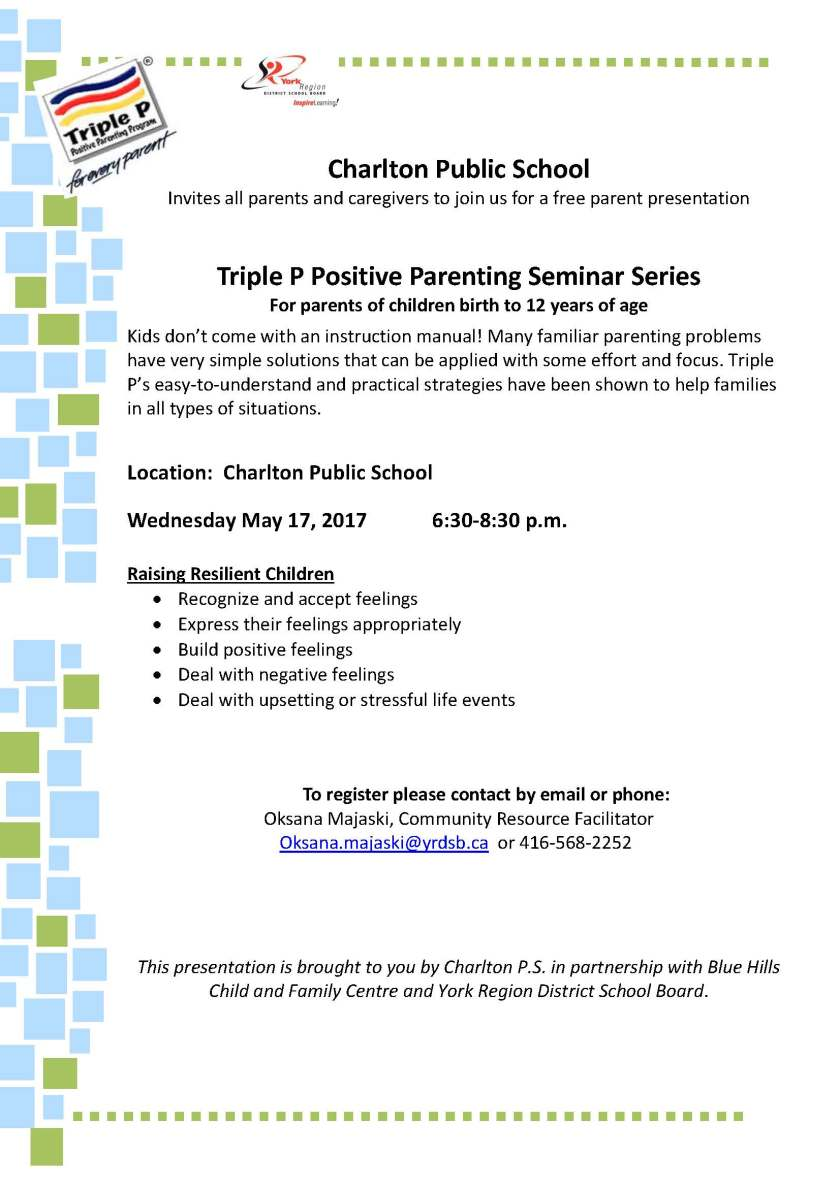 Raising Resilient Children May 17-family of schools