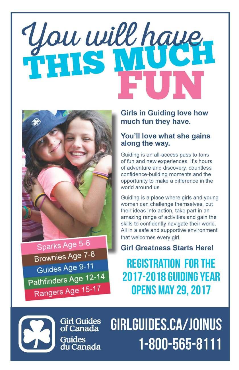 2017 Girl Guides Recruitment Flyer