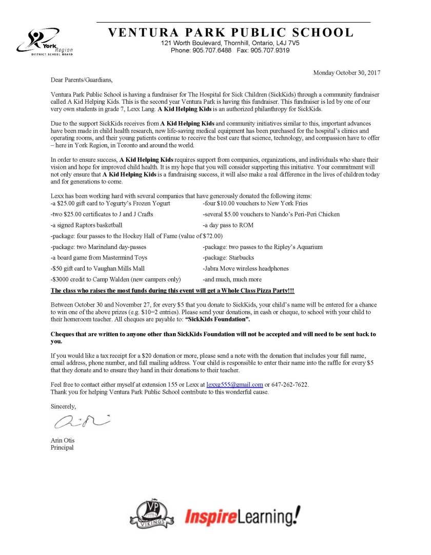 SKH Letter to Parents-2017