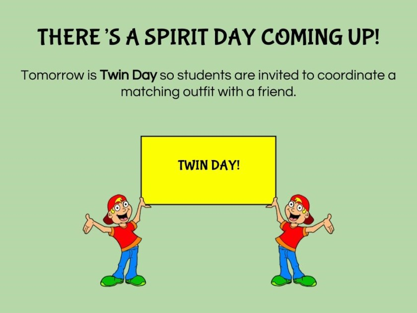 Spirit Day - Twin Day