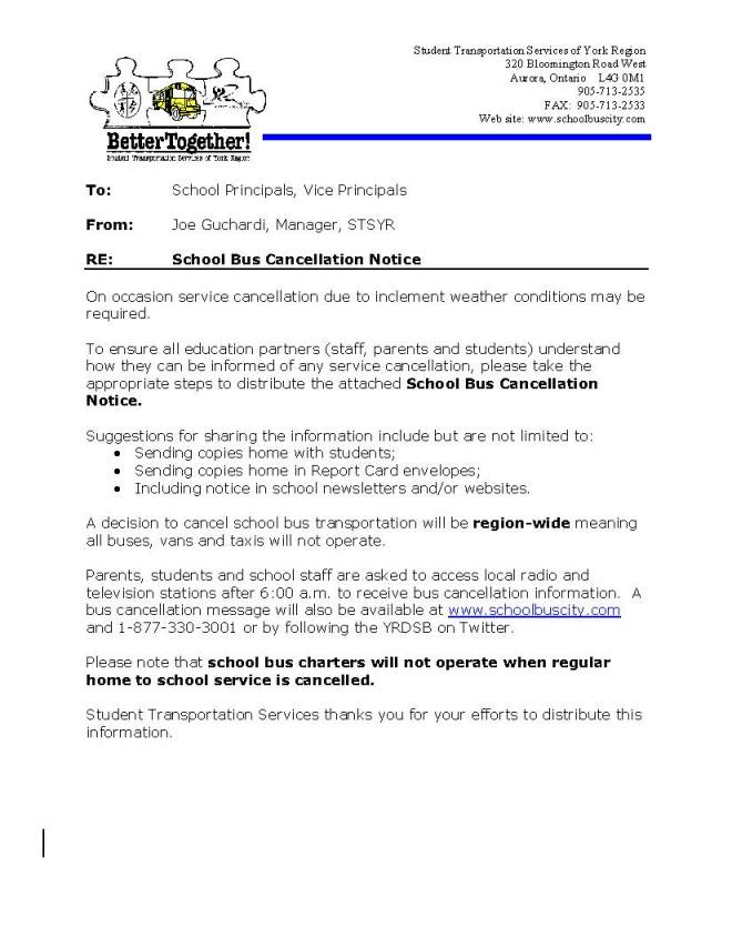 What to do if Buses are Cancelled? – Ventura Park PS BLOG