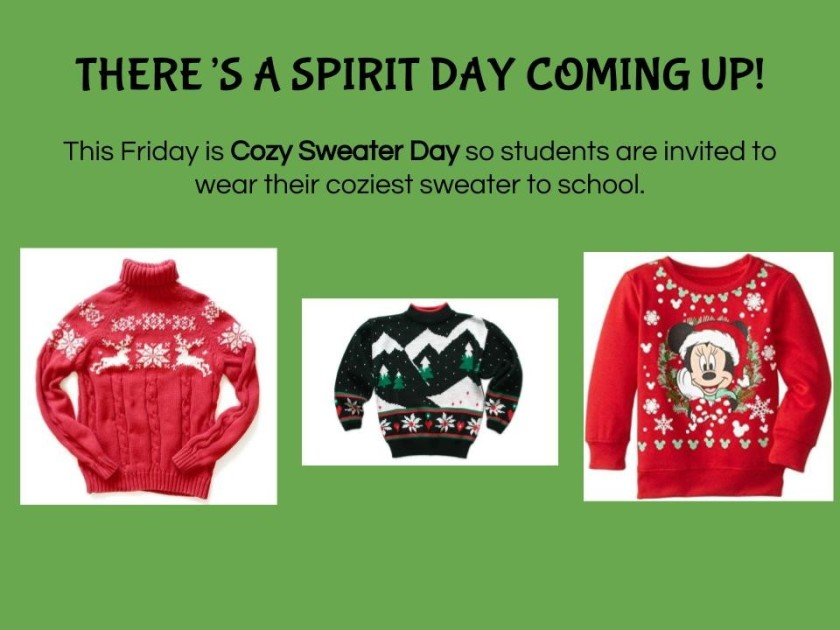 Spirit Day December 22