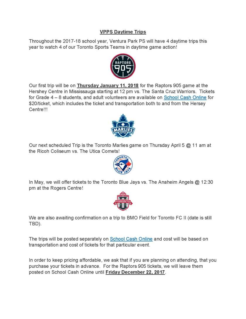 Sporting Events Notice