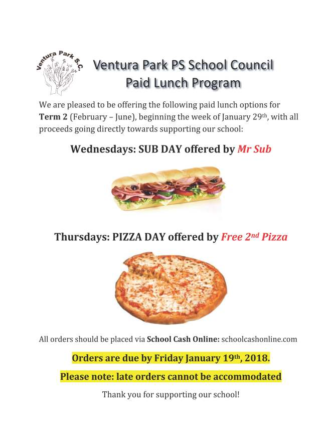 IMPORTANT INFORMATION – Wednesday Subs and Thursday Pizza Days at ... 3bec58ec9