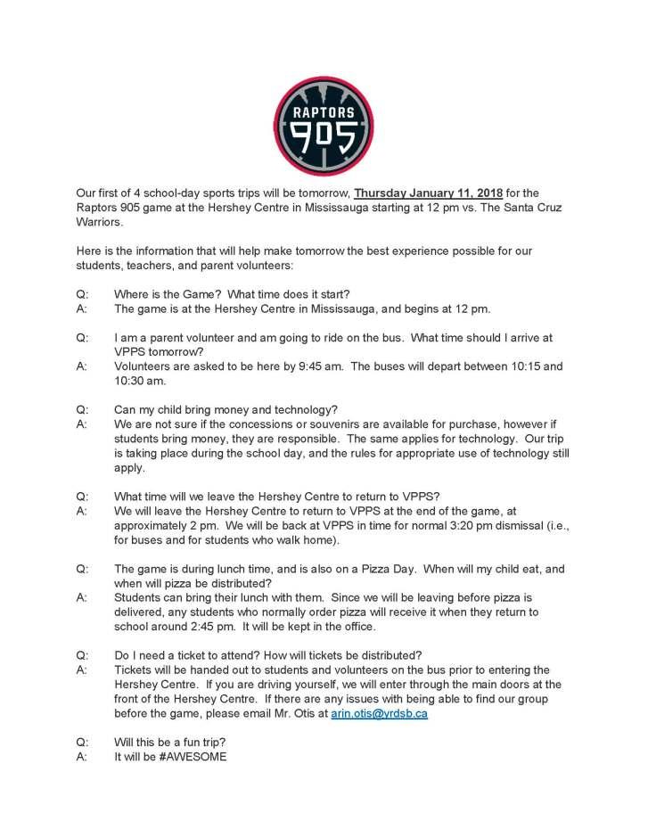 Raptors 905 FAQ