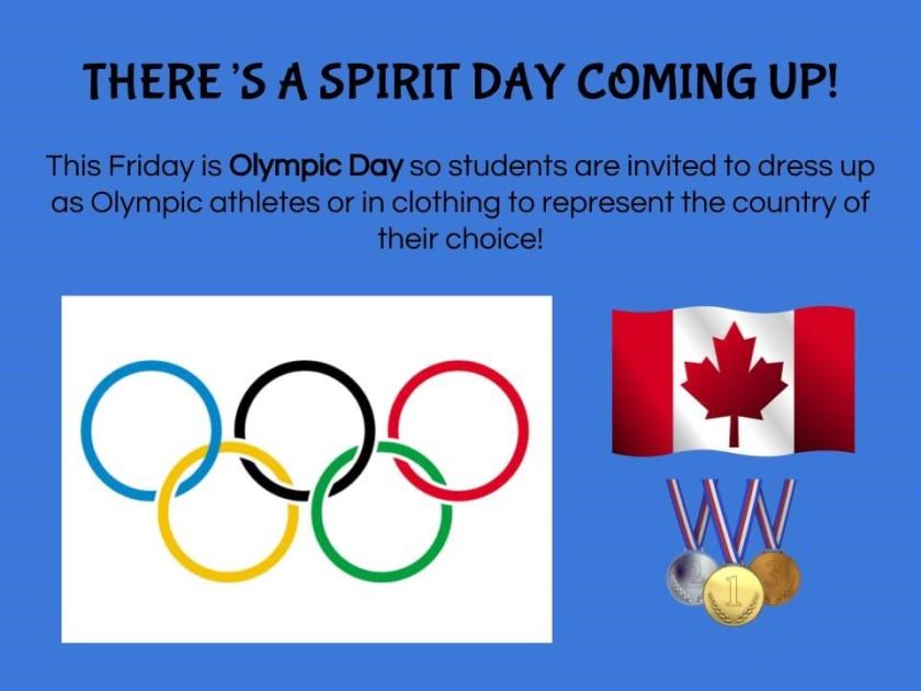 Spirit Day Friday Feb 9