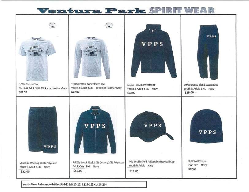 VPPS Winter School Spirit Wear