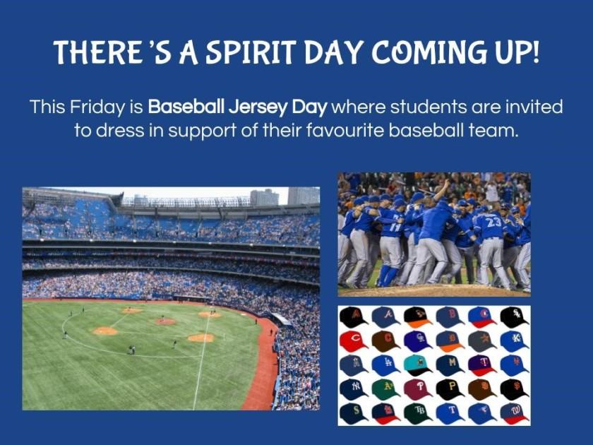 Baseball Jersey Day