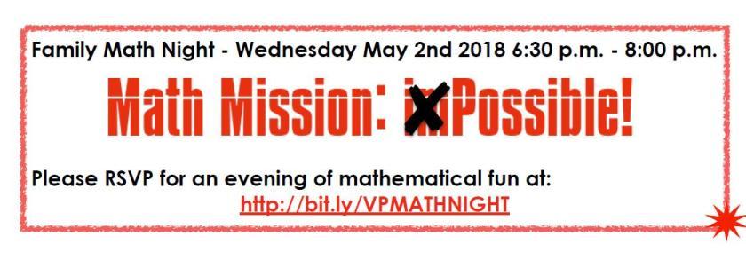Math Night RSVP