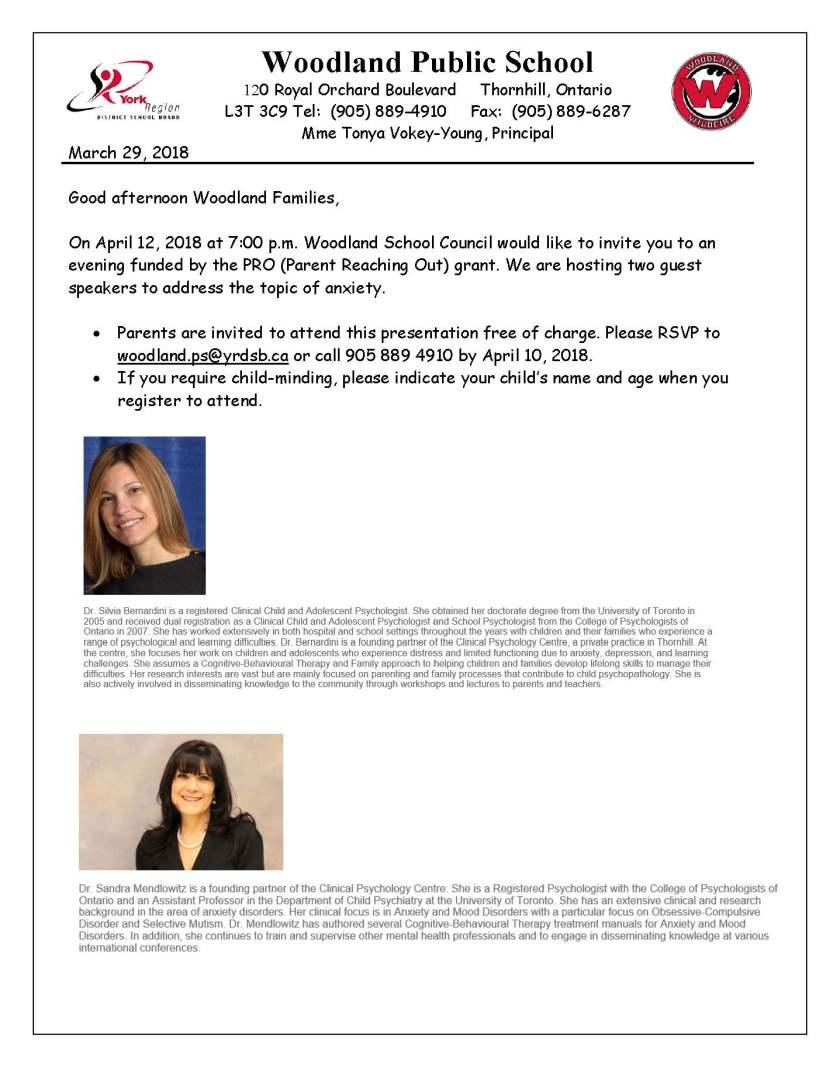 Pro Grant April 12 2018 at Woodland PS invitation Revisesd