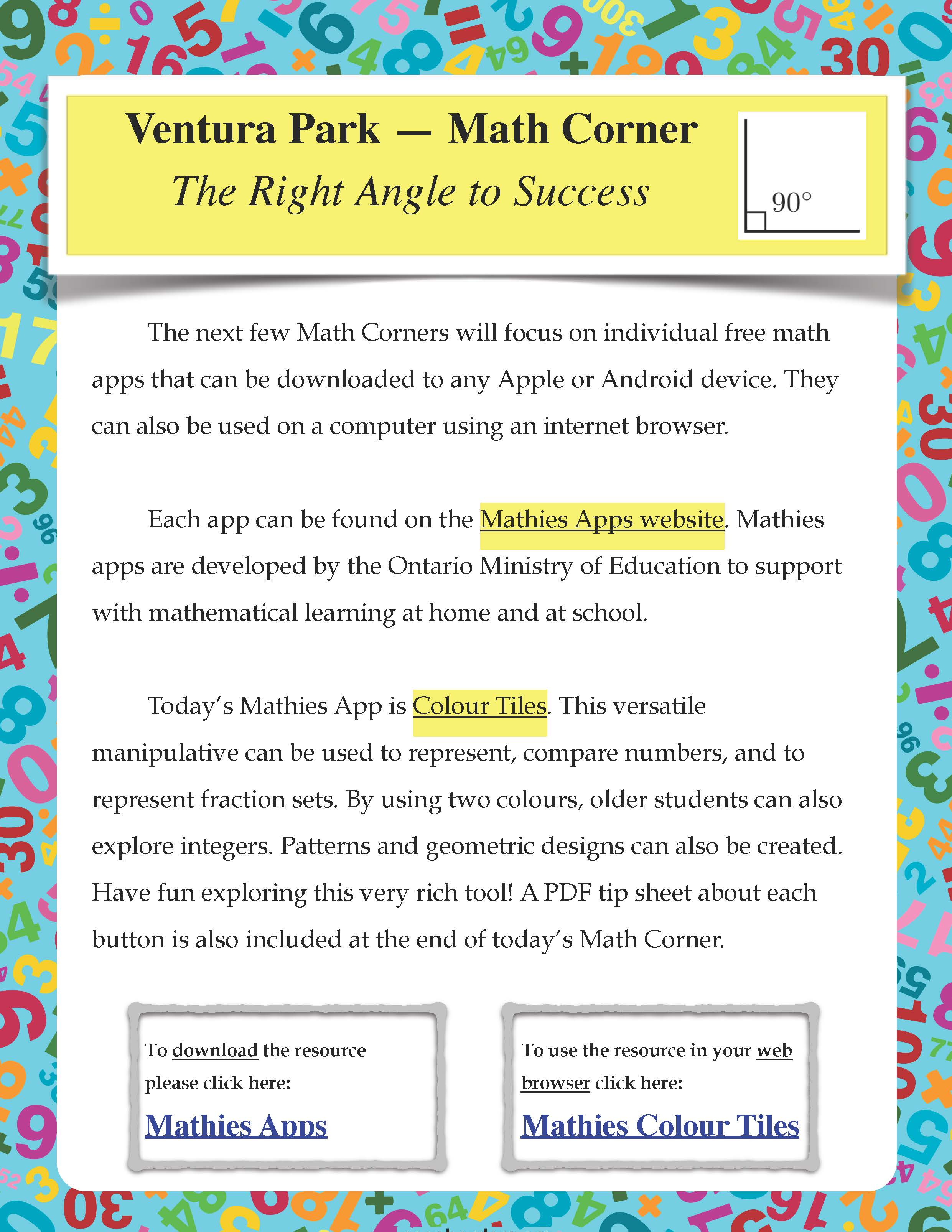 vpps math corner the right angle to success ventura park ps blog