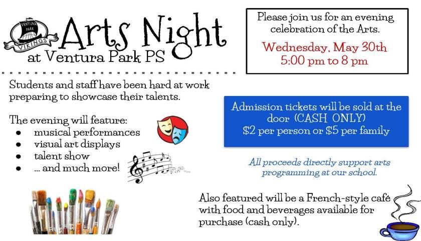 Arts Night Flyer