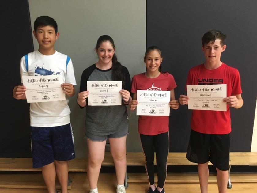 May 2018 Athletes of Month
