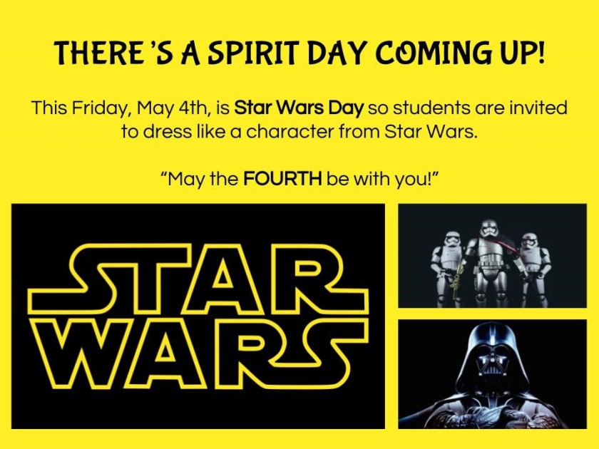 May 4 Spirit Day