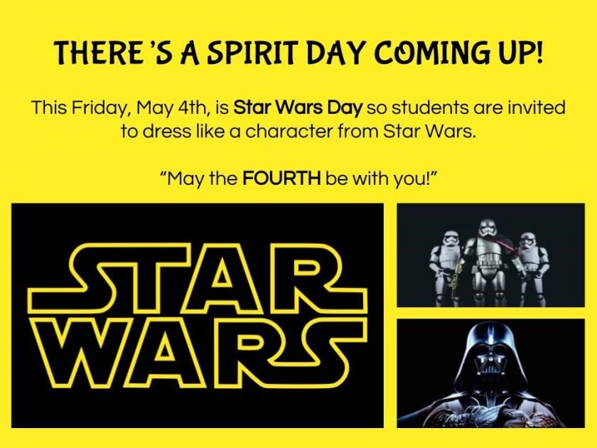 May 4 Spirit Day