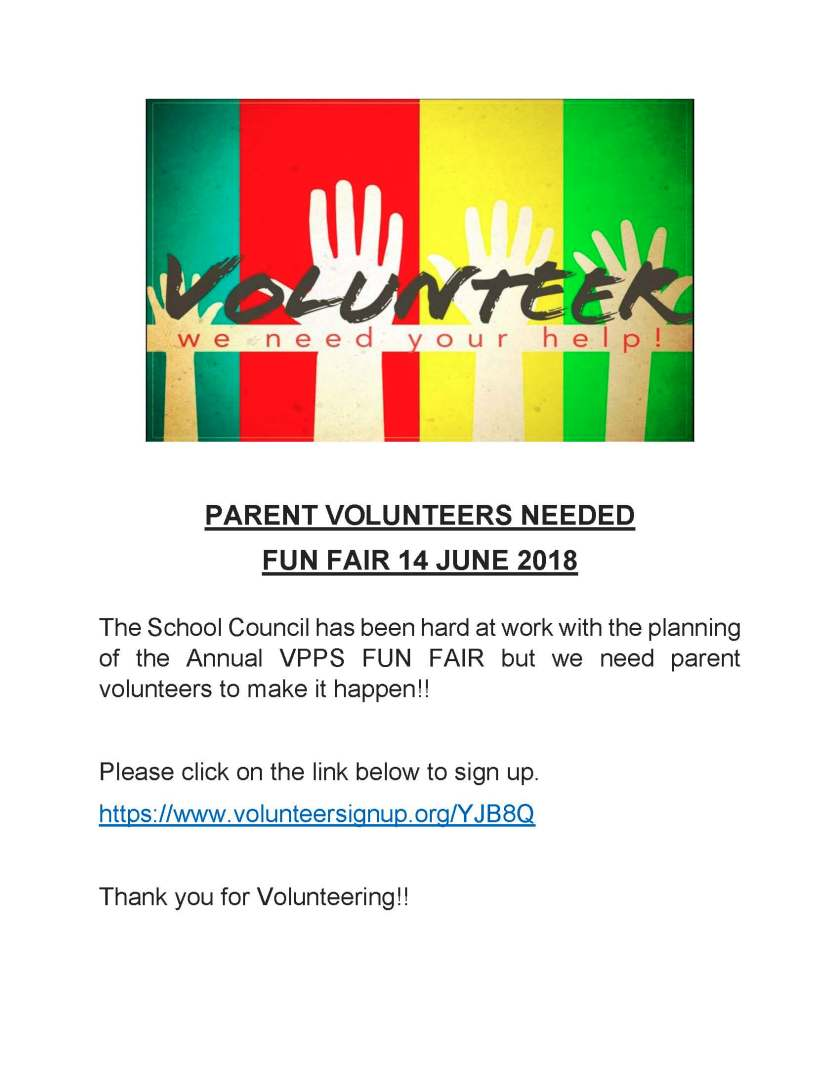 VPPS Parent Volunteers