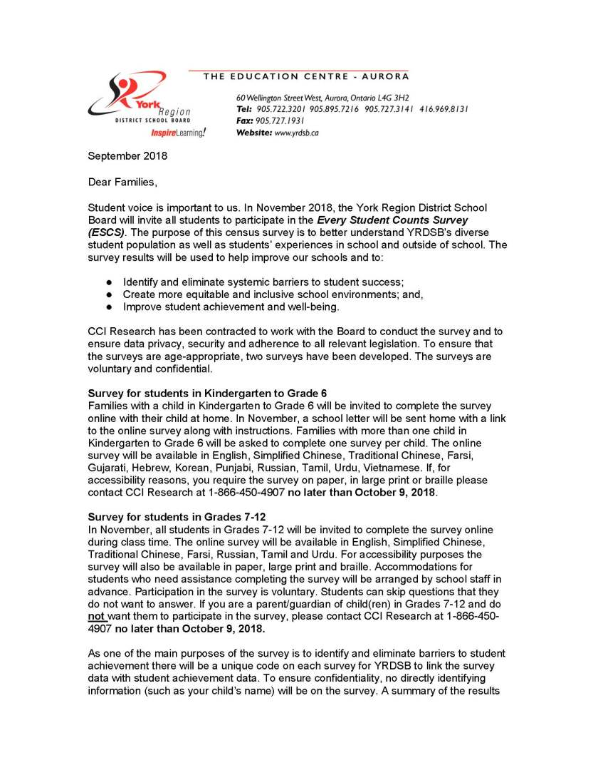 ESCS Survey - Letter to Families - September 2018_Page_1
