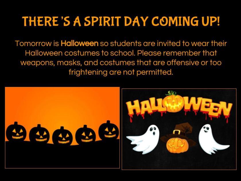 Spirit Day - Halloween