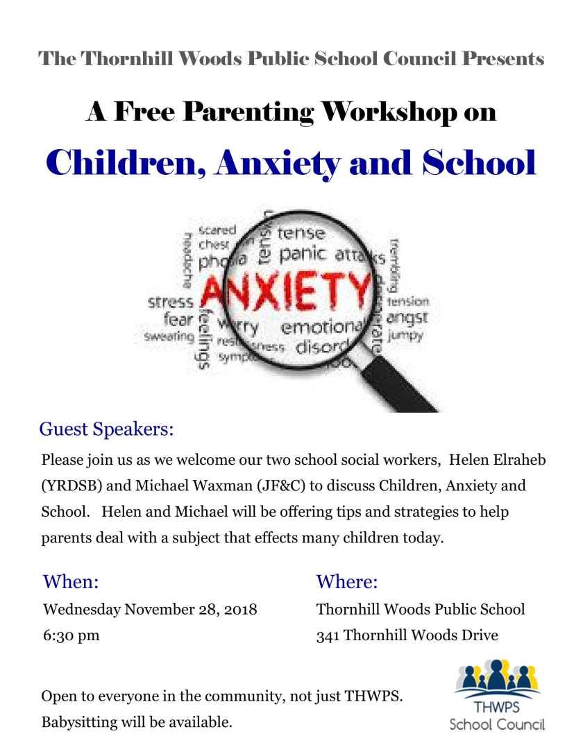 Parenting Workshop - Children Anxiety and School-1