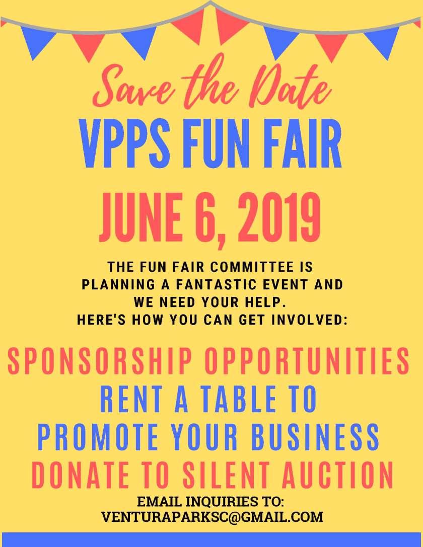 SAVE THE DATE FUN FAIR JUNE 6 2019