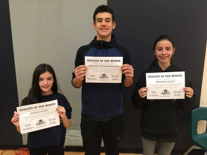 Athlete of the Month - December 2018
