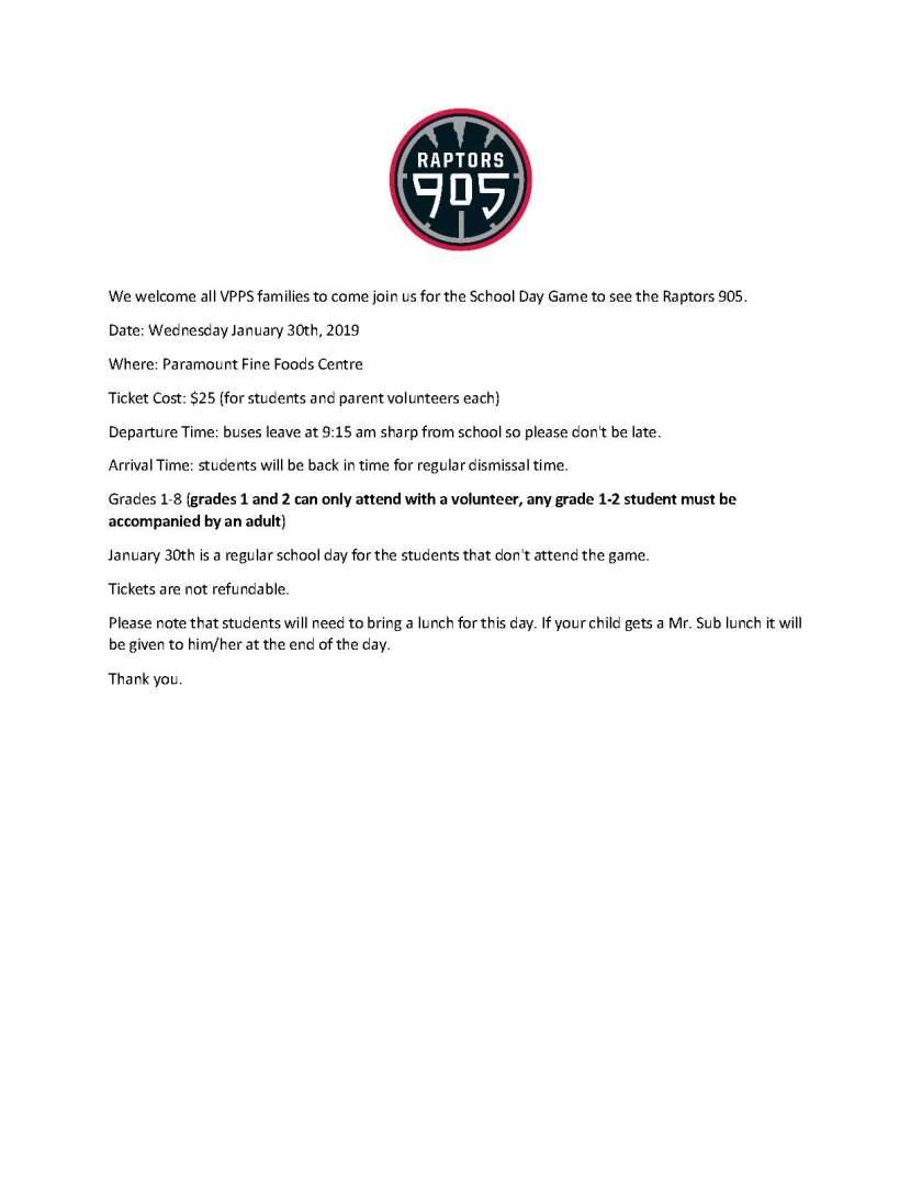 Raptors 905 January 30, 2019
