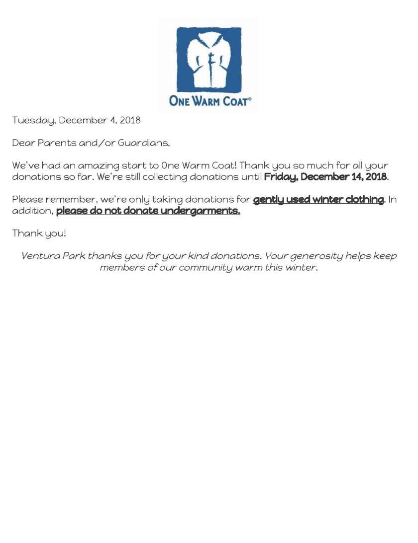 One Warm Coat Parent Letter-Update (1)