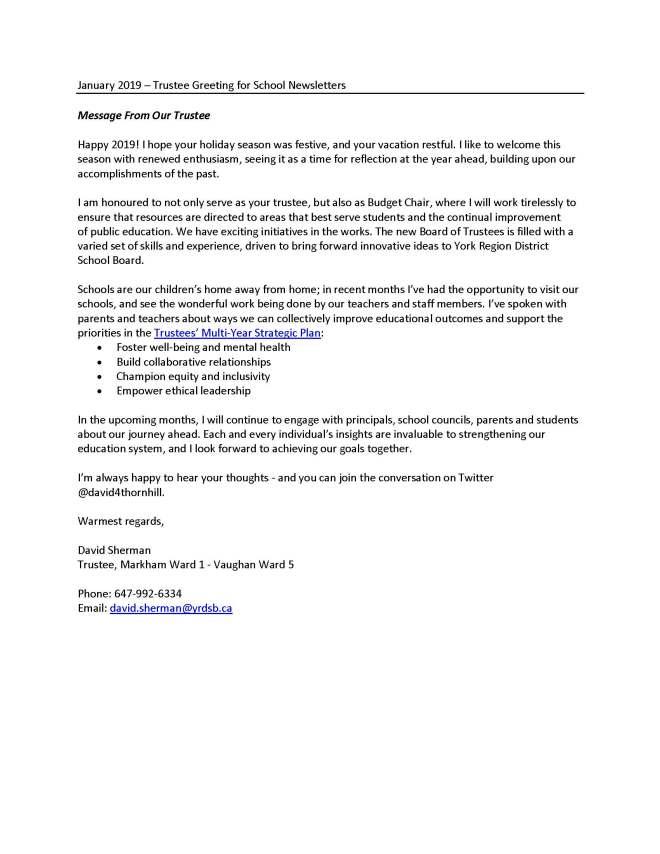 trustee greetings for school newsletters jan2019-trustee sherman