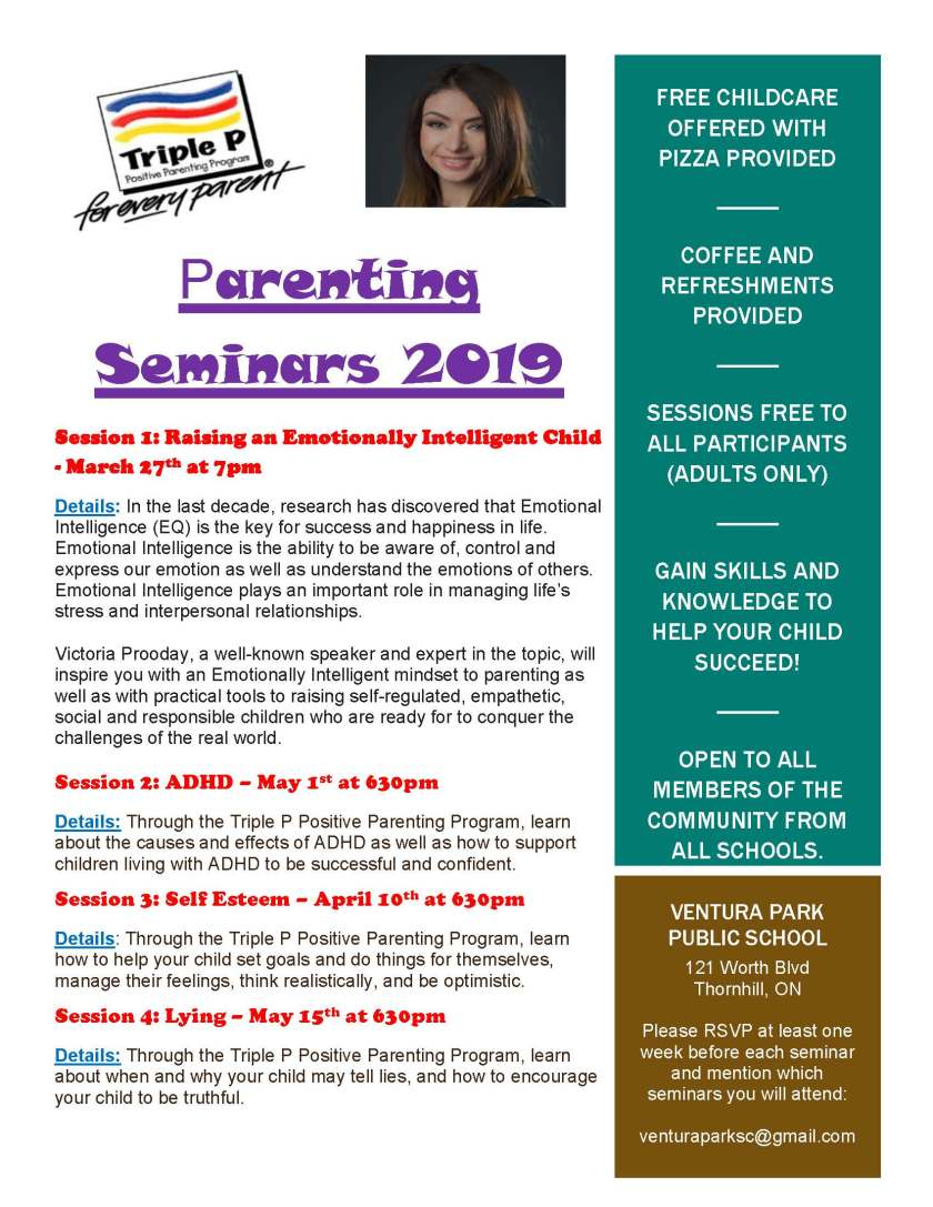 Parenting Seminars 2019