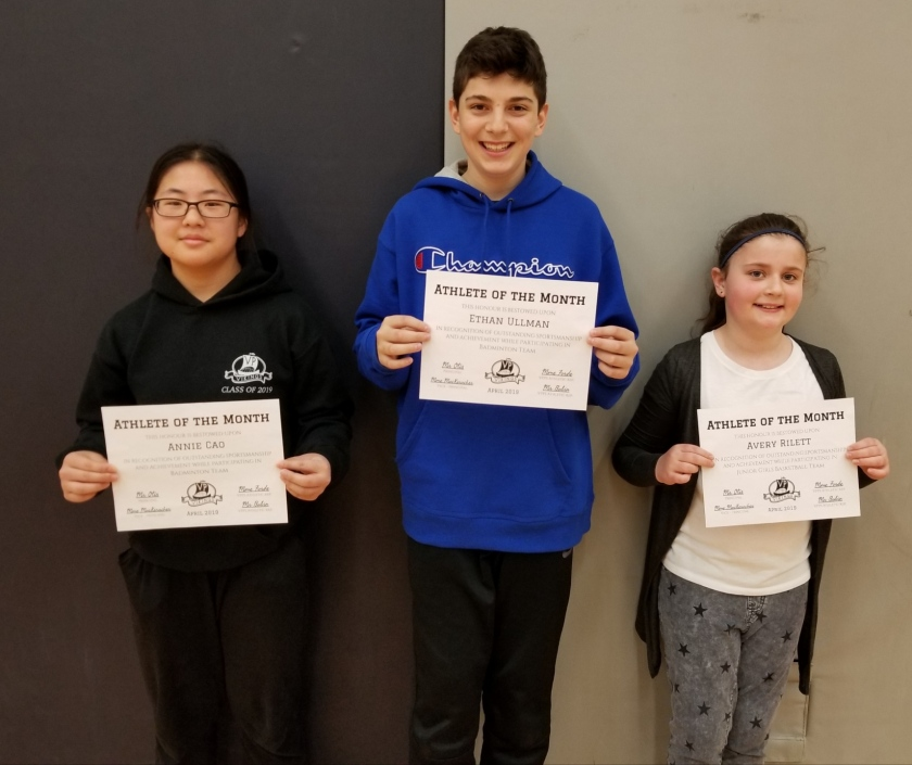 Athlete of the Month - March 2019