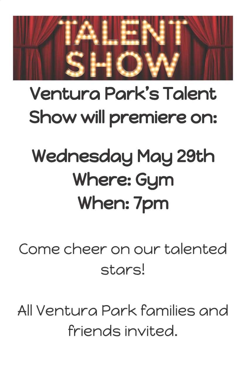 Blog-Talent Show Poster