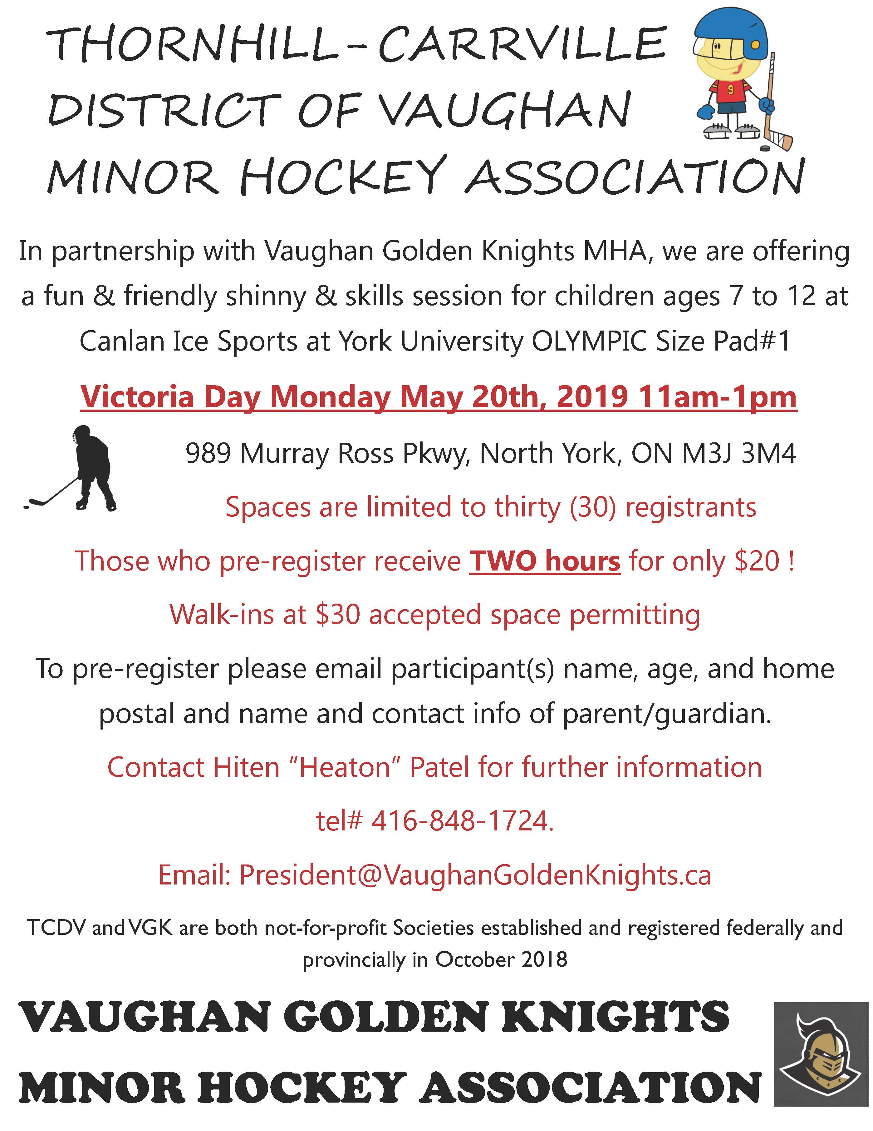 Looking for Something to do on Victoria Day? How about some shinny
