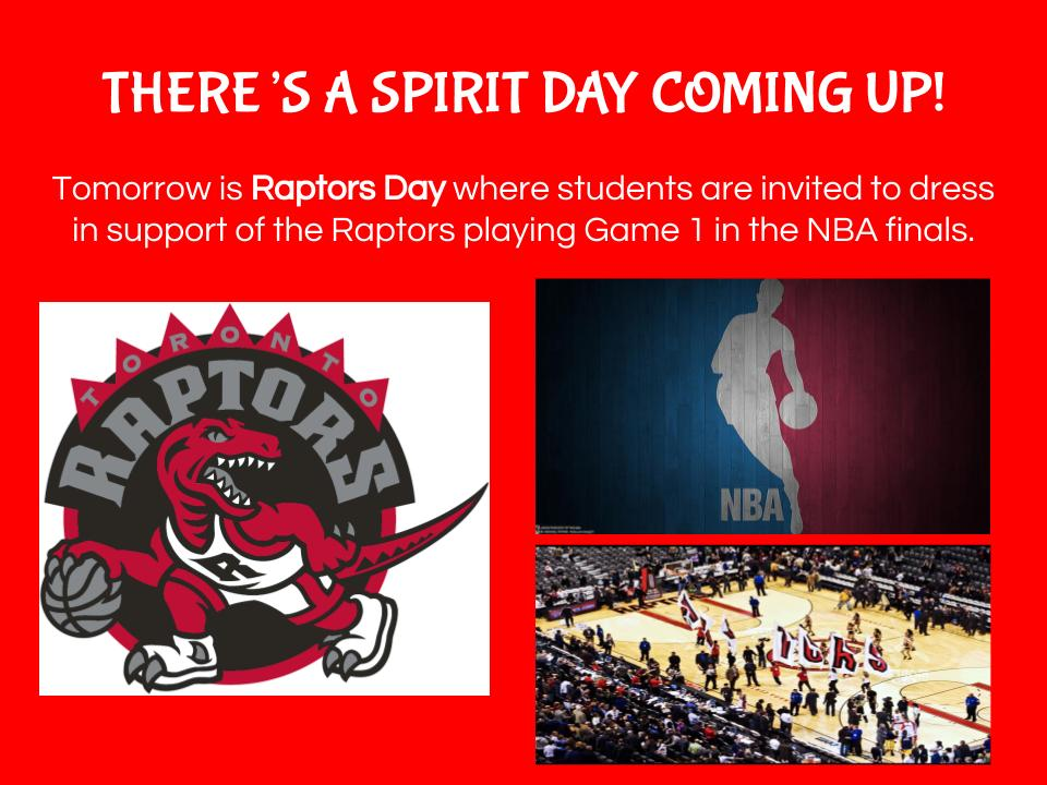 Spirit Day - Raptors Day