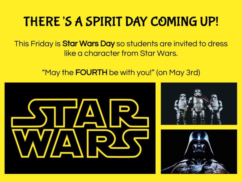 Spirit Day - Star Wars Day