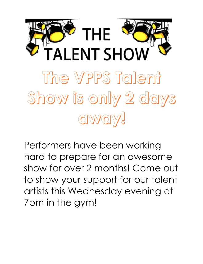 Talent Show Post May 27