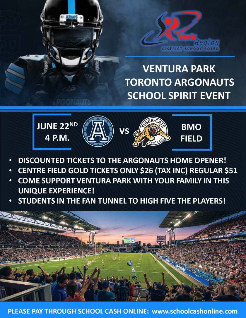 Ventura Park Argonauts Flyer May 2019
