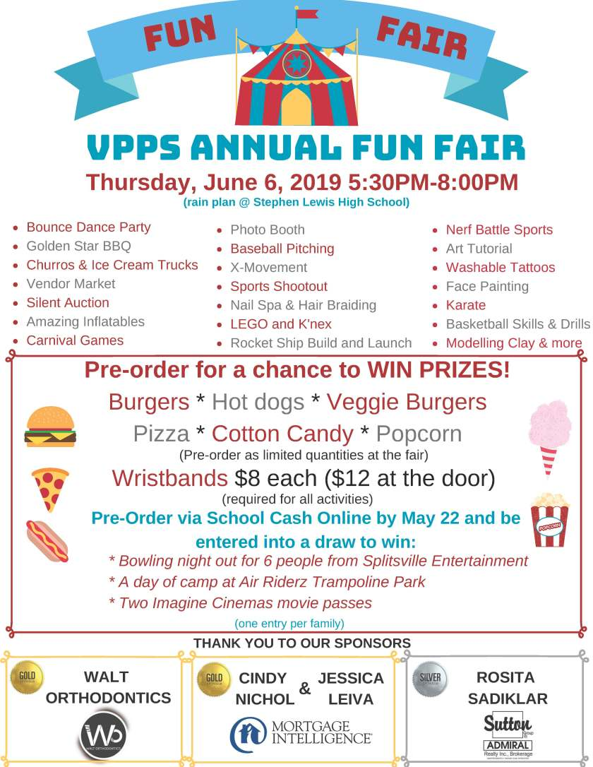 VPPS FUN FAIR FLYER 2019